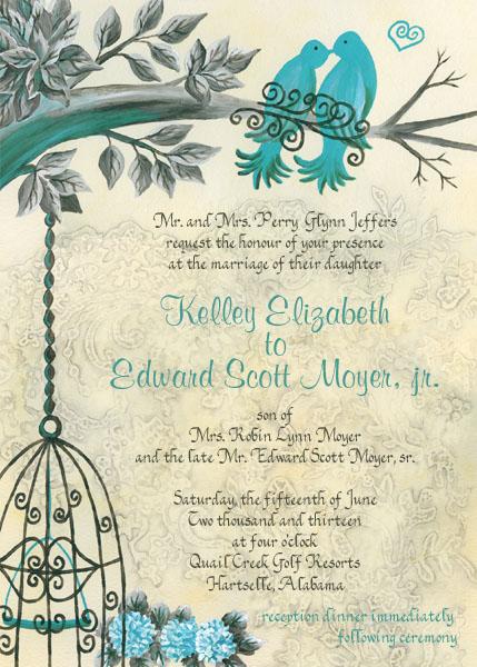 Custom Designed Wedding Invitations Save The Date Card