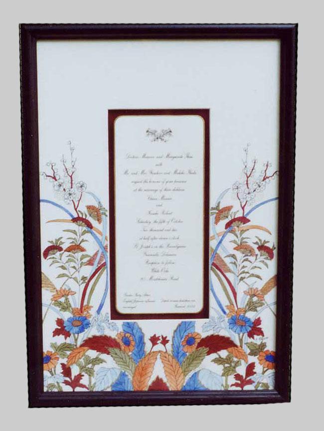 Hand-Painted Wedding Invitations|Framed Keepsakes